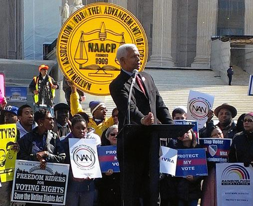 Hank joins CBC during Protect the Voting Rights Act Rally at the U.S. Supreme Court