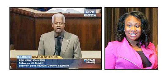Rep. Johnson honors Lithonia teen for receiving Peace First Prize