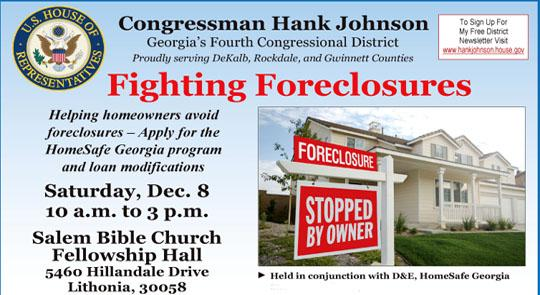Hank fighting foreclosures with Fourth District 'HomeSafe' event No. 2 in 2012