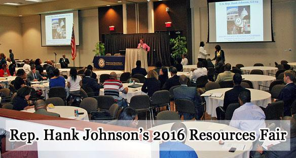 Rep. Johnson holding 2016 Resources Fair  feature image