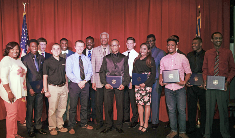 Congressman Johnson recognizes Fourth District students who earned nominations to the U.S. military academies at the Art Station in Stone Mountain in 2016.